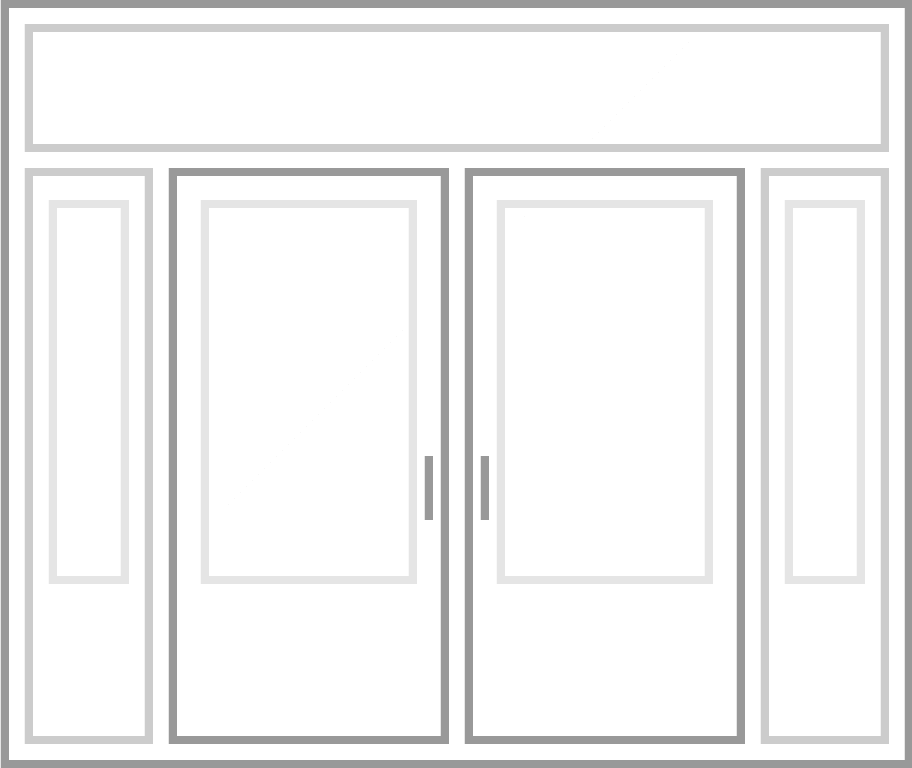 A graphical drawing of a Northern Comfort door.
