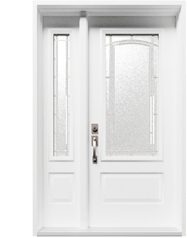 An image of an entry door by Northern Comfort Windows and Doors.