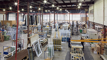 A photo of the Northern Comfort factory floor.