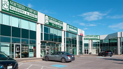 An external photo of the Nothern Comfort headquarters in Barrie.