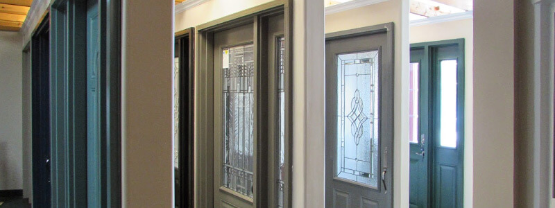 Our door and window showroom in Barrie, Ontario.