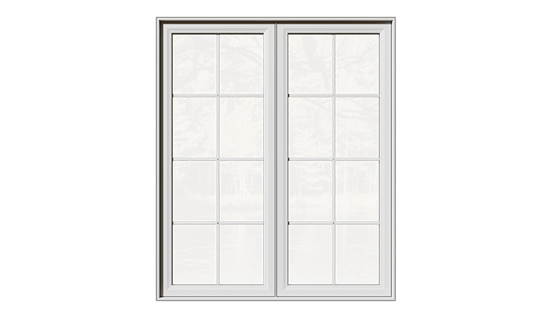 A closed Classic Series Double Slider Window from the front.