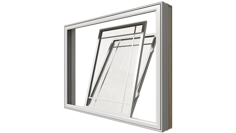 A closed Classic Series Double Slider Window from the side.