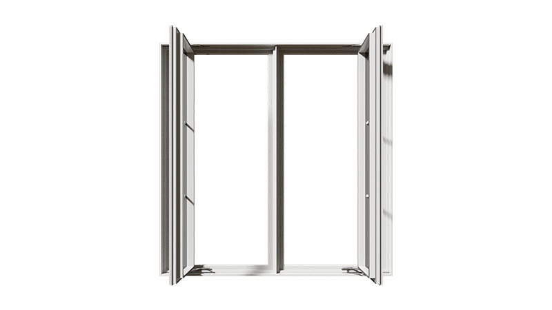 An open RevoCell® Casement Window from the front.