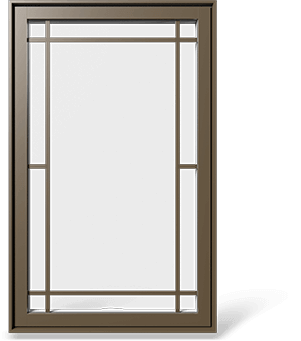 RevoCell® Single Casement Window with a contour grille