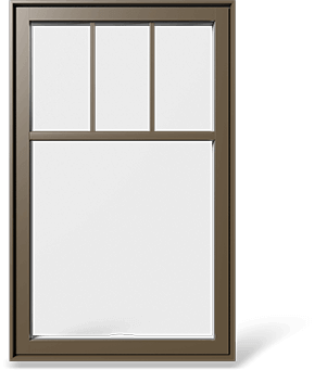 RevoCell® single casement window with partially covering SDL and rectangular internal grille