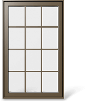 RevoCell® Single Casement Window with a 3x4 rectangular grille