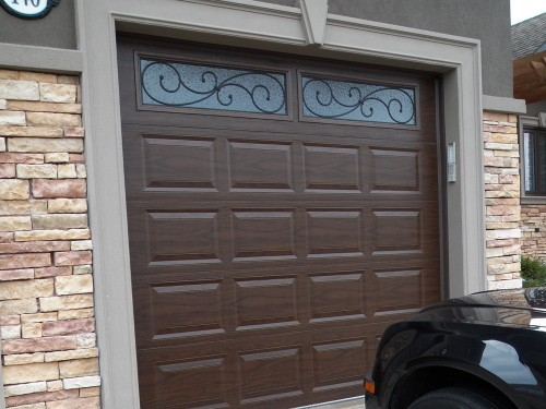 Brown Garage Doors With Windows insulated doors barrie newmarket | garage doors | northern comfort