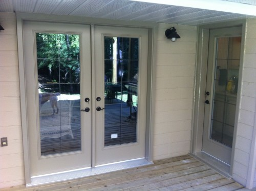 double tan garden doors