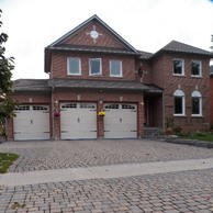 three car garage with casement windows