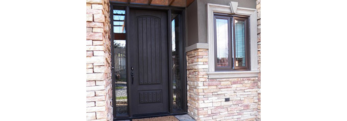 dark brown fibreglass front door