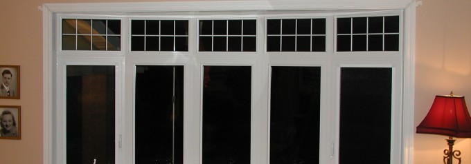 bow windows with white trim