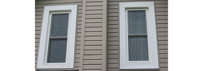 two tall single hung tilt windows