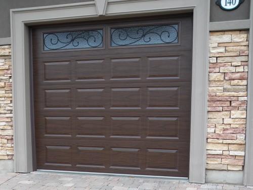 Brown Garage Doors With Windows insulated doors barrie newmarket | garage doors | northern comfort