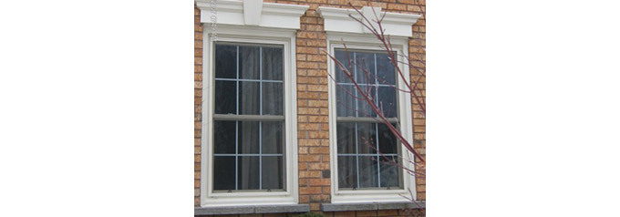 two double hung tilt windows