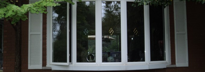 bow windows with detail