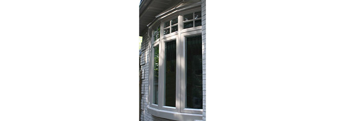 bow windows in front of house