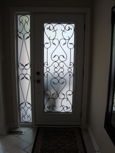 steel door from inside