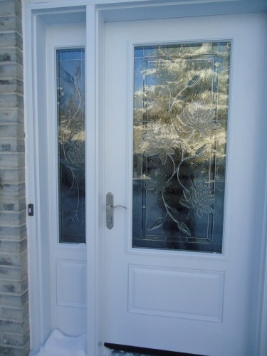 white steel entry door