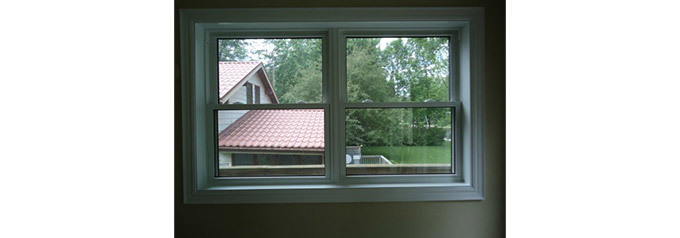 two small double hung tilt windows