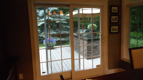 patio door from inside